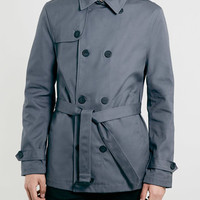 GREY CROPPED TRENCH COAT - Back to Campus - Clothing