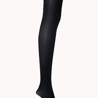 FOREVER 21 Disco Tights Navy/Silver