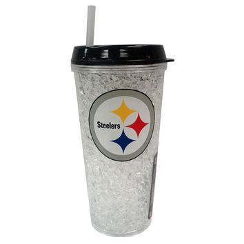 Duckhouse NFL Pittsburgh Steelers Crystal Freezer Straw Tumbler With Lid