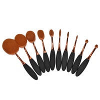 Oval Make up Brushes Set Toothbrush Shape Makeup Brush Sets Beauty Essential Blush Foundation Powder Eyeshadow Brush Tool Kit