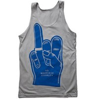 Unisex Marriage Equality Foam Hand Tank Top : Revel & Riot LGBTQ merchandise and gay rights graphic t-shirts   Revel & Riot
