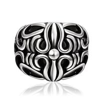 Super Cool Exquisite Totem Personality Man Titanium Steel Ring