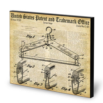 Clothes Hanger Patent- Historic Laundry Room Patents Series