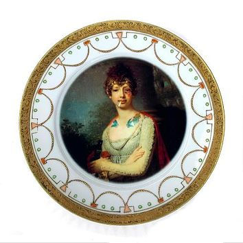 Antique Altered Plate Katherine The Terrible