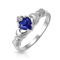 Bling Jewelry Blue Celtic CZ Ring