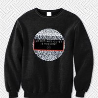 Twenty One Pilots Lyrics Sometimes Quiet Is Violent 5242 Sweater Man and Sweater Woman