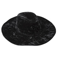 Velvet Witch Brim Hat [B]