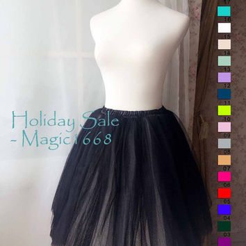 Black and White Tutus -  Designer Adult Tutus - Photography Prop - Tutu Skirt for Dance - wedding tutu(T1813)