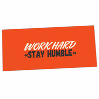 "Juan Paolo ""Work Hard Stay Humble"" Digital Vintage Desk Mat"