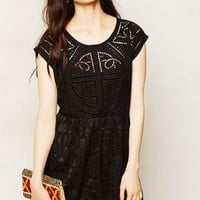 Embroidered Cutwork Dress by Vanessa Virginia
