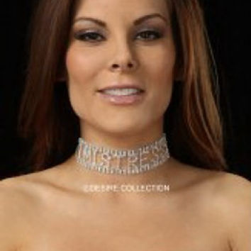 MISTRESS Rhinestone Choker-Naughty costume jewelry