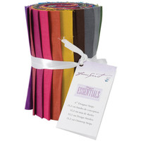 "Cotton Fabric Designer Essentials Subtle Solids Collection 6"" Fabric Solid Strips 100% Cotton 20 ct"