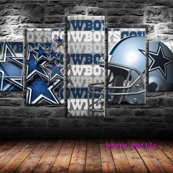 Dallas Cowboys Capacete Canvas Painting Living Room Home Decor Modern Mural Art Oil Painting