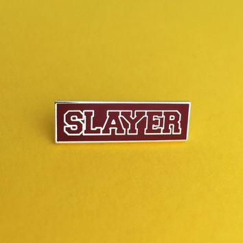 Sunnydale Slayer Enamel Pin in Classic Burgundy