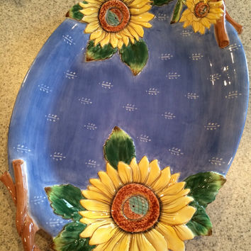 Fitz and Floyd, Sunflower Platter, Fitz Floyd Provence, Fitz Floyd Essentials, Fitz and Floyd Collectable