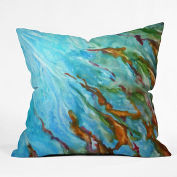 Rosie Brown Sea Sculptures Throw Pillow