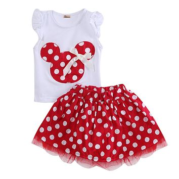 Cute New Kids Baby Girls Cotton Summer Sleeveless Party Dress Vest Skirt Toddler Clothes 1-4Year
