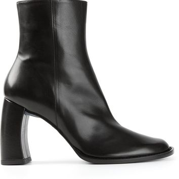 Ann Demeulemeester Blanche curved heel boots