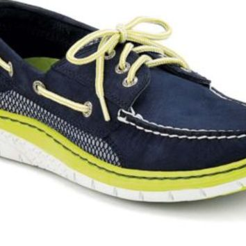 Sperry Top-Sider Billfish Ultralite 3-Eye Boat Shoe Navy/Lime, Size 11.5M  Men's Shoes