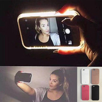 LED Light selfie Phone Case for Iphone 5 5S SE 6 6s 6 Plus 6s Plus Case Light Selfie Led Cover