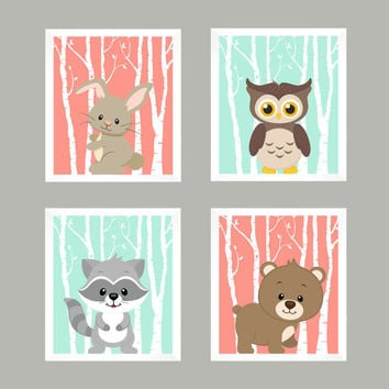 Nursery Print, Nursery Decor, Baby Decor, Wall Art, Wall Decor, Woodland Nursery, Forest Animals, Baby Print, Animal Print, Woodland Animals
