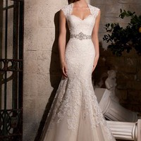 Mori Lee 2719 Sheer Back Lace Mermaid Wedding Dress
