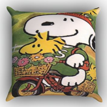 snoopy X0160 Zippered Pillows  Covers 16x16, 18x18, 20x20 Inches