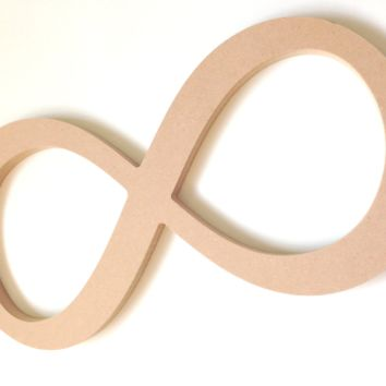 Unfinished Wooden Decor - Infinity Sign Wall Hanging - Perfect for DIY
