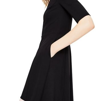 Boden Wren Colorblock Cotton Blend Ponte Dress | Nordstrom