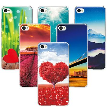 "Scenery Rose Painted Phone Cases For Lenovo S90 S90T 5.0"" Case Covers Hard PC Back Cover For Lenovo S90 S 90 Funda Capa"