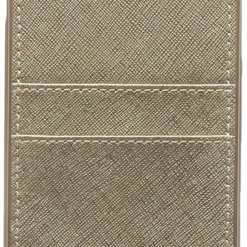 DCCKV2S Michael Kors Metallic Electronic Leather Phone Cover with Pocket 7+