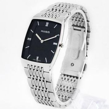 Wristwatches Original HK Brand Wilon Top Quality slim two -pin fashion casual Men watch lovers Waterproof women Lovers Watch