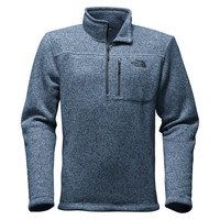 Men's Gordon Lyons 1/4 Zip Fleece in Heathered Shady Blue by The North Face - FINAL SALE