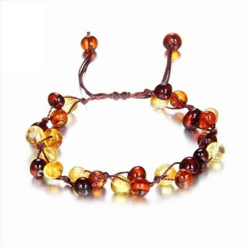 Baby Adult Amber Bracelet Anklet Best Natural Jewelry Gifts for Women Ladies Girls Handmade Multi Color Strand Bijoux