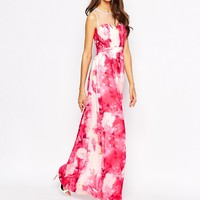 Little Mistress Tall Rose Print Maxi Dress