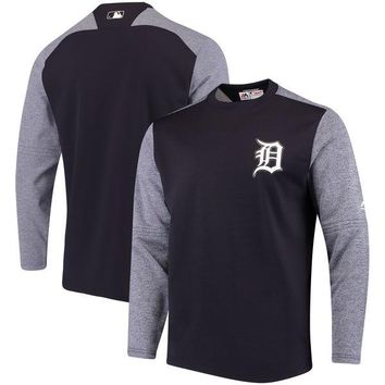 MLB Detroit Tigers Authentic Collection On-Field Tech Fleece Pullover Sweatshirt - Navy