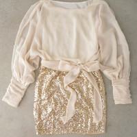 Sparkling Darling Dress in Ivory [4659] - $46.00 : Feminine, Bohemian, & Vintage Inspired Clothing at Affordable Prices, deloom