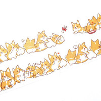 Lovely Corgi washi tape (T00132)