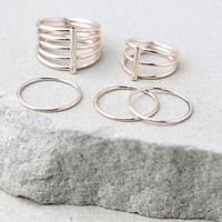 Perfect Touch Rose Gold Ring Set