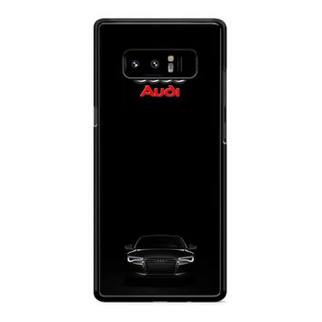 Black Audi Samsung Galaxy Note 8 Case