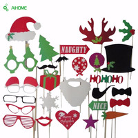 27pcs/lot DIY Mask Po Booth Props Mustache On A Stick Christmas  Year Wedding Birthday Party Decoration Funning Boothprop