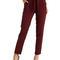 Tie Waist Draped Trousers