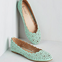Pastel Make the Motif of It Flat in Mint
