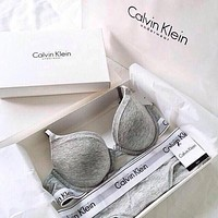 """Calvin Klein"" High Quality Print Bra Brief Panty Underwear Lingerie Set Bikini Two-Piece"