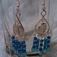 Blue and Silver Balance Earrings