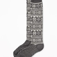 Go-Warm Fair Isle Boot Socks for Women|old-navy