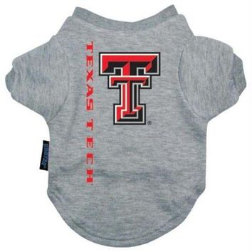 DCCKT9W Texas Tech Pet Tee Shirt