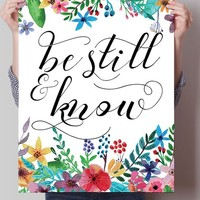Be Still & Know Print