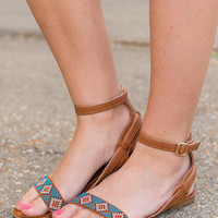 South Of The Border Sandals, Camel