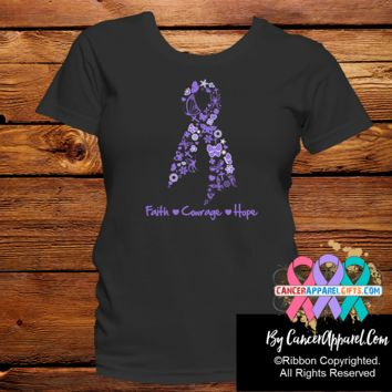Hodgkins Lymphoma Faith Courage Hope Shirts